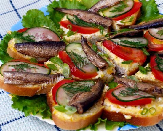 Бутерброды со шпротами с фото