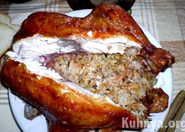 курица в целиком духовке рецепты с фото