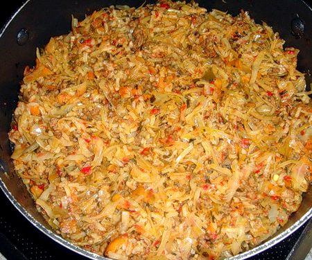 Как сделать ленивые голубцы на сковороде с рисом рецепт с