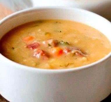 рецепт для мультиварки гороховый суп для panasonic