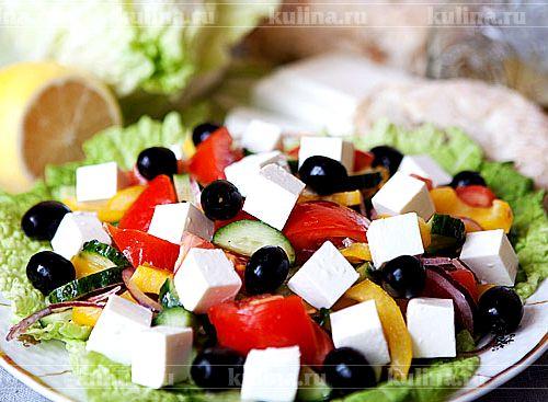 Греческий салат рецепт с фото пошагово на зиму