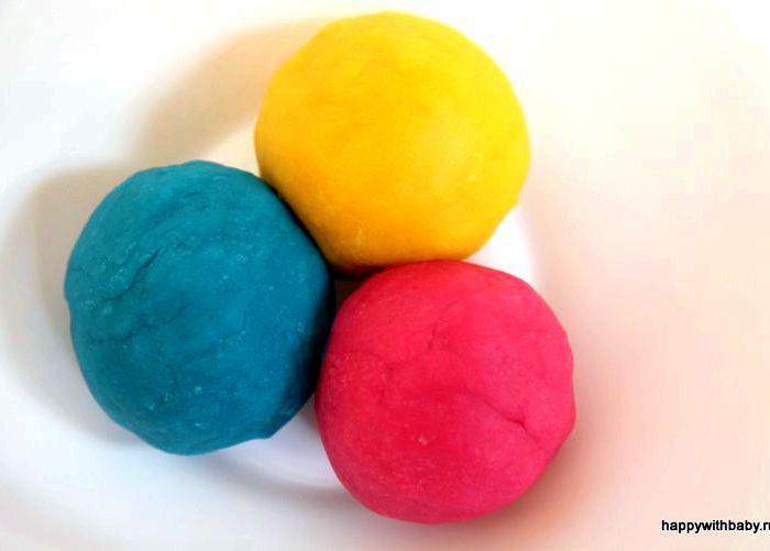 Как сделать тесто разноцветными 355
