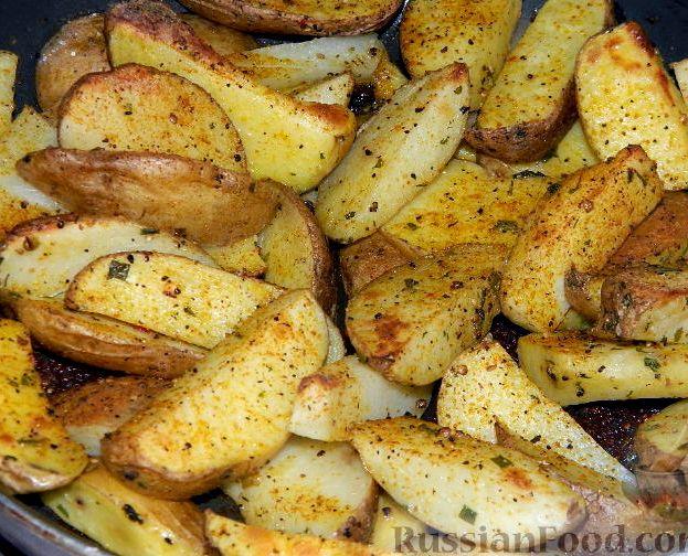 картофель дольками в духовке рецепты