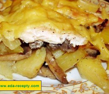 Салат грибы курица ананас сыр рецепт слоями