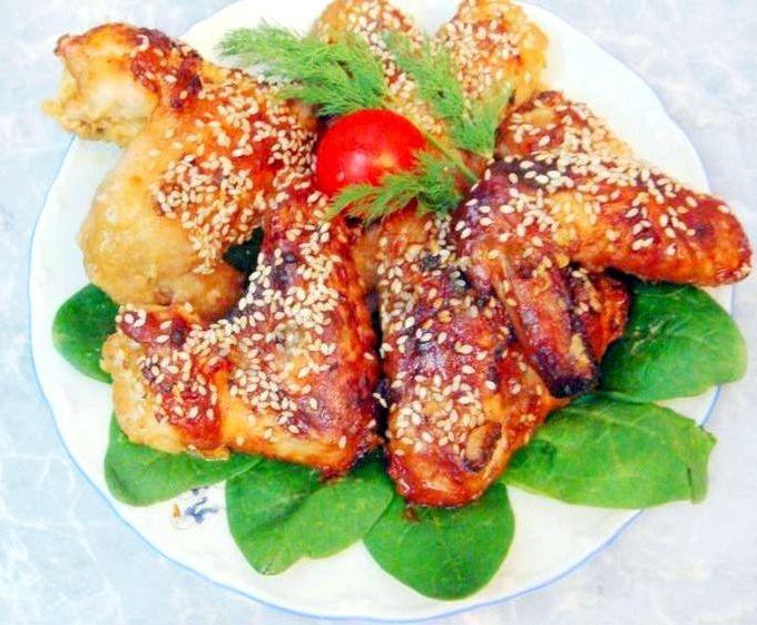 Крылья куриные в духовке с медом