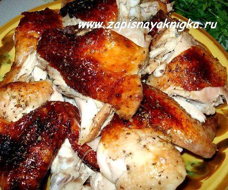 золотистая курица в духовке рецепт с фото с