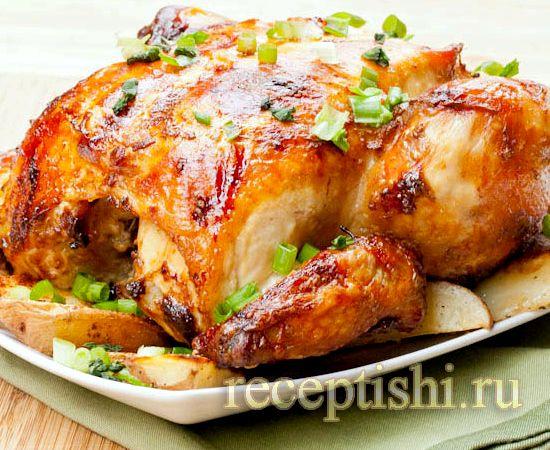 Хрустящая курица в духовке рецепт