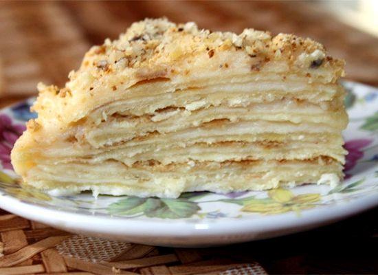 Наполеон торт рецепт с заварным кремом фото рецепт пошаговый