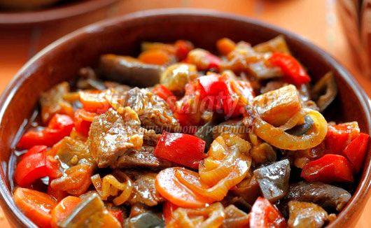 Овощное рагу с мясом говядины рецепт 75