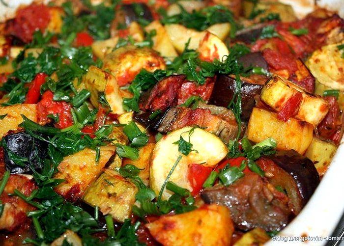 овощное рагу в духовке рецепты фото
