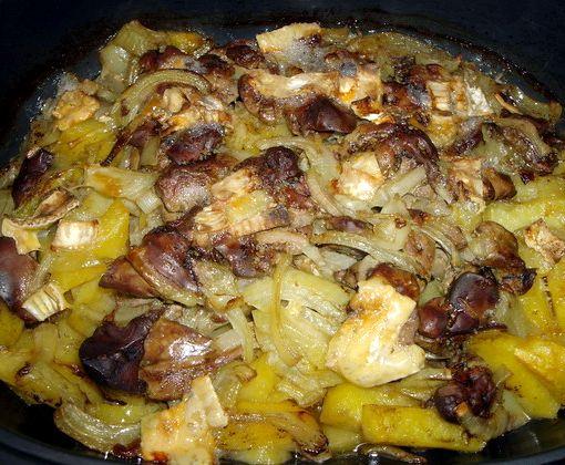 делать, если печень в духовке с картошкой и грибами замену токена