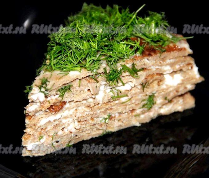 Печёночный торт с куриной печенью рецепт готовим дома