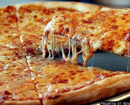 Пицца без дрожжей в духовке простой пошаговый рецепт