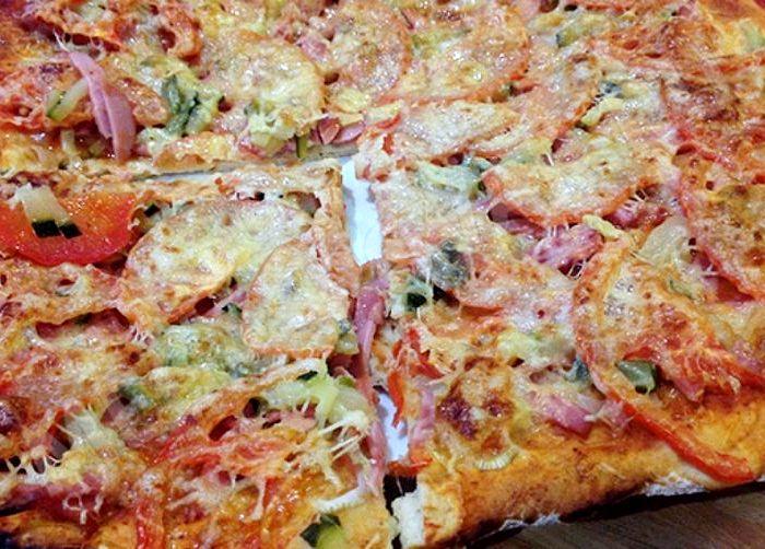 Пицца в духовке без дрожжей простой пошаговый рецепт