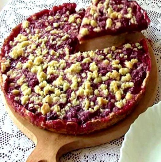 Песочный пирог с малиной рецепт пошагово