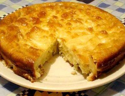 Пирог шарлотка с капустой рецепт с фото