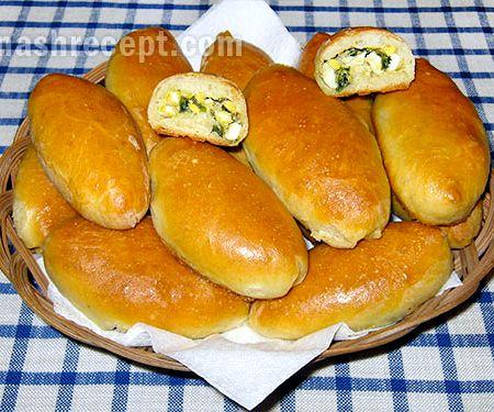 Пирожки печеные с луком и яйцом в духовке пошаговый рецепт с на