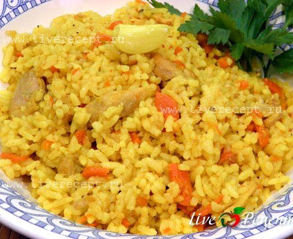Плов узбекский рецепт с курицей с фото пошагово