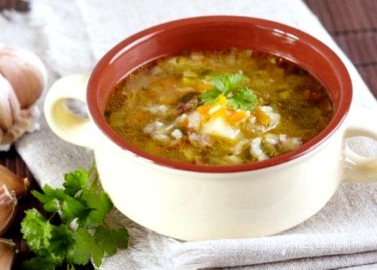грибной суп на мясном бульоне рецепт с перловкой