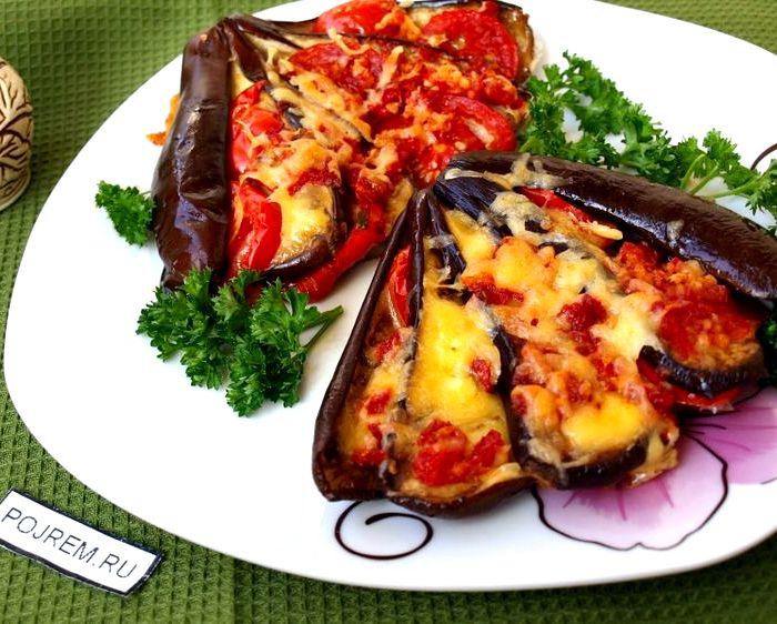 Баклажаны с помидорами и сыром в духовке пошаговый рецепт