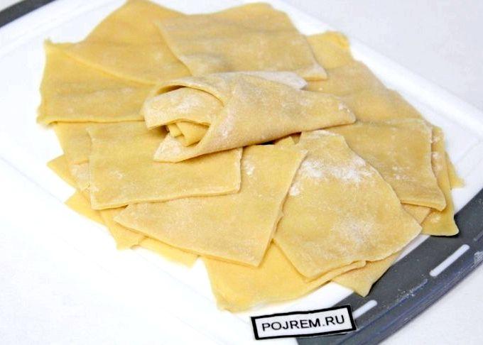 Лазанья с фото тесто для лазаньи