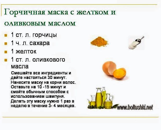 Рецепт с горчицы для роста волос в домашних условиях