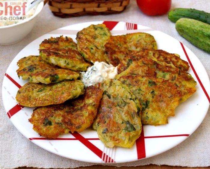 рецепт приготовления оладий из кабачков с картошкой