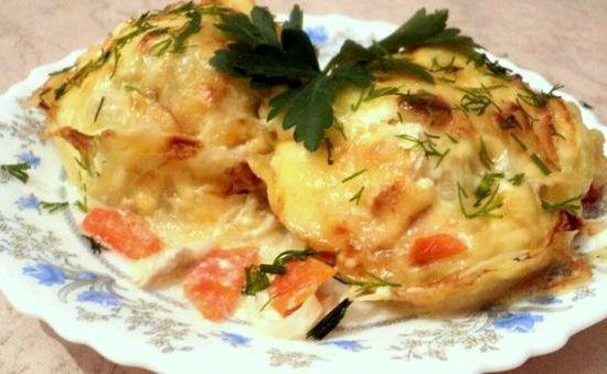 Минтай в фольге в духовке с картофелем рецепт