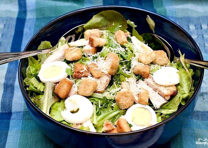 рецепт овощного салата с фото пошагово в