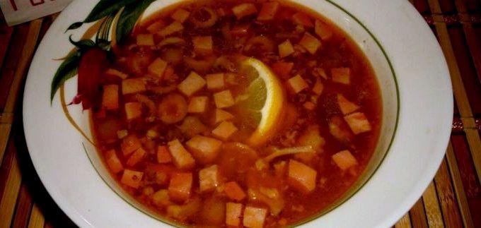 солянка сборная мясная классическая рецепт с картошкой фото пошагово