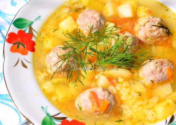 Фрикадельки для супа рецепт из фарша пошагово с рисом