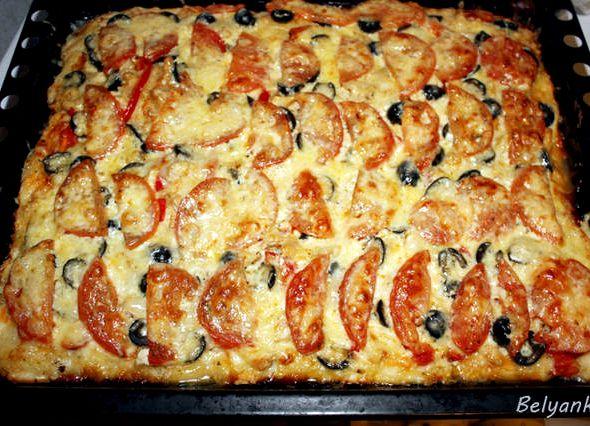 Быстрая пицца в духовке рецепт пошагово с без дрожжей