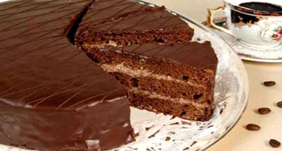 Торт со сгущенкой и какао рецепт со сгущенкой