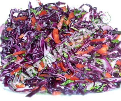 Салат из капусты краснокочанной рецепт