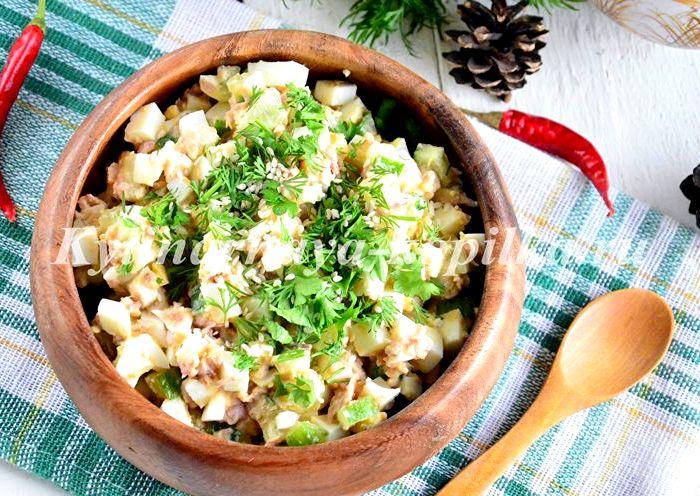 салат из яблока и тунца консервированного рецепт