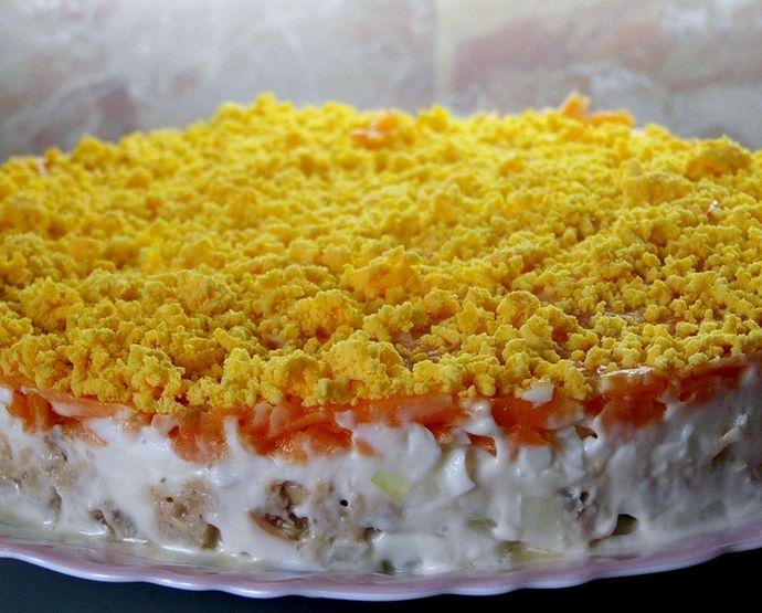 Салат мимоза рецепт с консервой с рисом рецепт