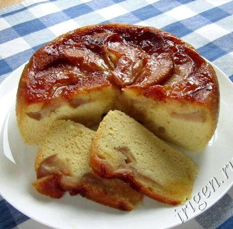 Шарлотка с яблоками в мультиварке рецепт филипс