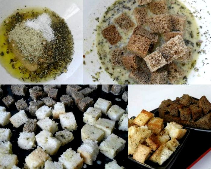 Как готовить сухарики