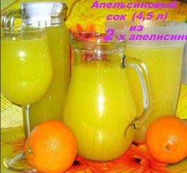 Апельсиновый сок из 4 апельсинов на 9 литров рецепт