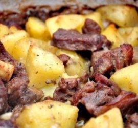 Баранина с картошкой в духовке рецепт с фото