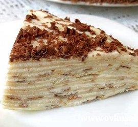 Блинный торт рецепт с заварным кремом с фото