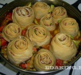 Ленивые манты на овощной подушке рецепт пошагово с фото