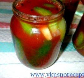 Огурцы в томатной пасте на зиму обалденный рецепт