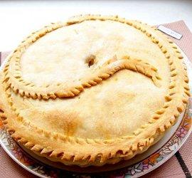 Пирог с картошкой и мясом в духовке рецепт с фото