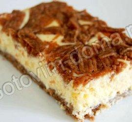 Пирог с творожной начинкой рецепт с фото