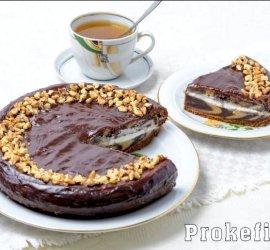 Пирог зебра рецепт на кефире с фото пошагово в домашних условиях