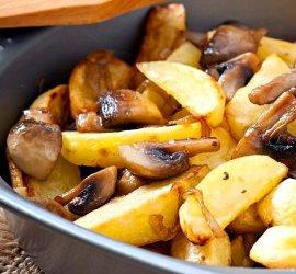 Картошка с белыми свежими грибами жареная рецепт 155