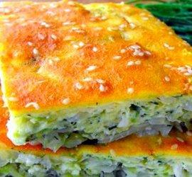 Рецепт пирога на кефире с капустой в духовке