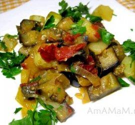 Рецепт рагу из кабачков и баклажанов