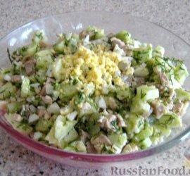 Рецепт салат из печени трески рецепт с фото